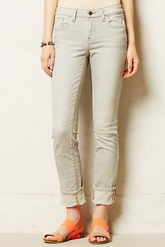 Shop for Pilcro Stet Cuffed Jeans by Anthropologie at ShopStyle. Cuffed Jeans, Denim, Grey Wash, Poplin, Cool Style, Anthropologie, Personal Style, Khaki Pants, Trousers