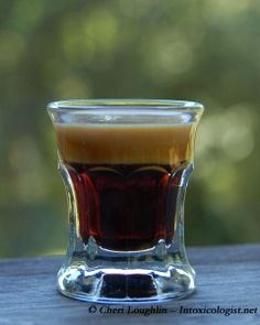 The Baby Guinness (2.5-3 parts Kahlua + 1 part Baileys). BEST SHOT EVER!! thank you Ireland for introducing this into my life :)