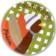 Thankful Girl Plate