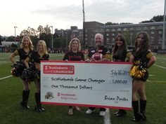 We are ecstatic to announce that Toronto Rehab's own volunteer extraordinaire, Tim Giblin, has won the first round of the Scotiabank Game Changers program!   This past Saturday, July 26, Tim received a $1,000 charitable donation for TRF at the Hamilton Tiger-Cats home opener.   Way to go Tim, we are so proud of you!   For more information and to see photos from the game, visit: http://bit.ly/1o6i8Ar