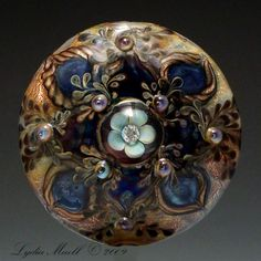 Online focal bead gallery of lampwork artist, Lydia Muell. Button Art, Button Crafts, Handmade Beads, Vintage Buttons, Lampwork Beads, How To Make Beads, Bead Art, Beaded Jewelry, Antique Jewelry