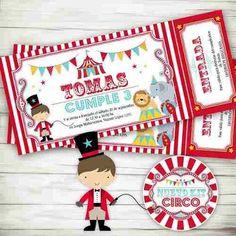 Kit Imprimible Circo Invitaciones Candybar Primer Año - $ 300,00