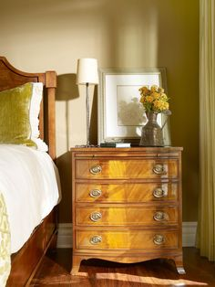 Looking for Traditional Bedroom ideas? Browse Traditional Bedroom images for decor, layout, furniture, and storage inspiration from HGTV. Bedroom Dressers, Bedroom Furniture, Bedroom Decor, Bedroom Ideas, Furniture Ideas, Master Bedroom, Bedroom Colour Palette, Bedroom Colors, Traditional Bedroom