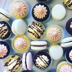 """85 Likes, 3 Comments - Sweet'Ems Cakes & Catering (@sweetems_cakes) on Instagram: """"Sweet'Ems new mixed Mini Cupcake & Macaron Share Platter - up on the website soon!…"""""""