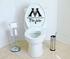 "Stick this decal onto your toilet to transform it into the entrance to the Ministry of Magic. | 27 Magical Ways To Throw The Ultimate ""Harry Potter"" Party"