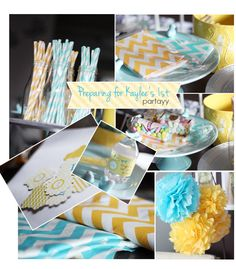 Blue/Yellow Theme Party