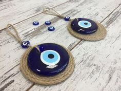 Evil Eye - Ahenque, Hand Crafted Natural Products - Evil Eye 2 Piece Round Glass Evil Eye/Lucky Eye Charm With Round Jute Background, Blue Evil EyeTalisman, Home/Housewarming Gift, Wall Hanging Home Decor Gift for Mom/Friend/Colleague Warm Home Decor, Home Decor Items, Jute, Victorian Fabric, Interior Room Decoration, Make Up Inspiration, Ceramic Wall Art, Friends Mom, Thoughtful Gifts