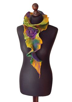 Handmade felted collar/ scarf made from finest Australian merino wool…