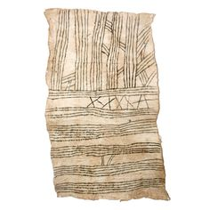 Mbuti-Pygmy Bark Cloth Painting on Chairish.com