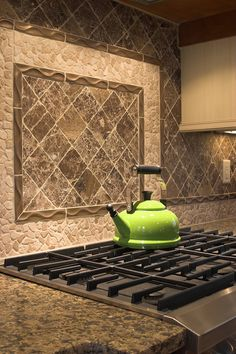 Best Kitchen Backsplash Designs For Kitchen Glossy Green Kettle Stoned Kitchen Backsplash Designs Modern Stove