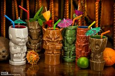 Guardians of the Galaxy Geeki Tikis ~ $80 ~ Baby Groot, Drax, Gamora, Rocket Raccoon, Star-Lord