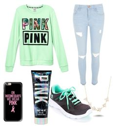 """""""Untitled #34"""" by haileelizabeth ❤ liked on Polyvore featuring Victoria's Secret, River Island, Casetify, Under Armour, Amorium, women's clothing, women, female, woman and misses"""