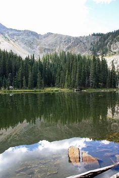 Hiking to Nambe Lake near Santa Fe, New Mexico.