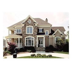 Traditional Exterior Photos Design Ideas, Pictures, Remodel, and Decor... ❤ liked on Polyvore featuring houses