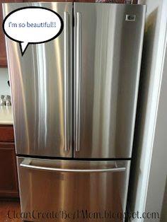 Clean stainless appliances 1 cup baking soda 3T borax  1/4 cup lemon juice Club soda