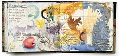 A Journal Spread by Melanie Testa - Draw what you see