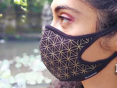 Flower of Life Air Pollution Face-mask Diy Mask, Diy Face Mask, Face Masks, Maskcara Beauty, Small Sewing Projects, Mouth Mask, Rave Wear, Flower Of Life, Mask Design
