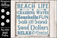 Beach Humor, Funny Beach, Antique Signs, Crashing Waves, Newsletter Templates, Text Effects, Design Show, Journal Cards, School Design