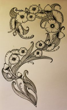 Image result for art nouveau flower tattoo