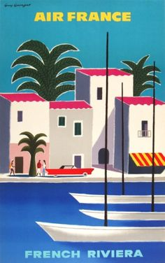 french riviera #poster #vintage #retro