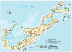 Printable Map of Bermuda map of Bermuda Free download large