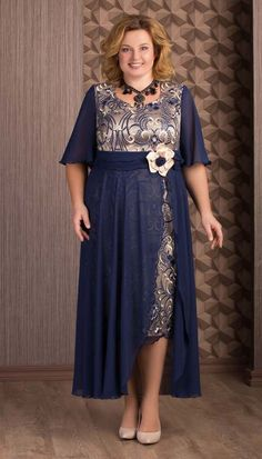 A collection of chic clothes for overweight women Plus Size Cocktail Dresses, Plus Size Gowns, Abaya Fashion, Muslim Fashion, African Fashion Dresses, Fashion Outfits, Dress Pesta, Iranian Women Fashion, Mother Of The Bride Gown