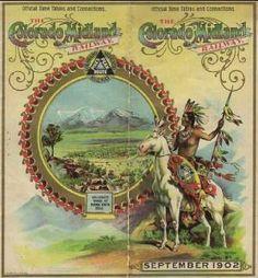 Colorado Midland Railroad brochure