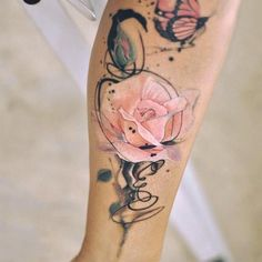 ▷ 1001 + ideas for a beautiful watercolor tattoo you can steal – Rose Tattoos Pretty Tattoos, Cute Tattoos, Leg Tattoos, Body Art Tattoos, Tatoos, Beautiful Tattoos, Watercolor Rose Tattoos, Pink Rose Tattoos, Flower Watercolor