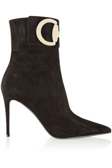 Gucci ~ Horsebit-detailed suede ankle boots   NET-A-PORTER