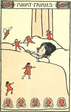 danskjavlarna:  Night fairies, fromSongs of Near and Far Away, illustrated and written by E. Richardson, 1900.
