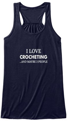 I Love Crocheting And Maybe 3 People Midnight Women's Tank Top Front