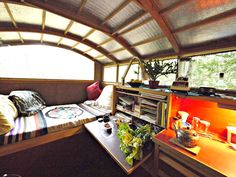 Lloyd House's converted 1992 Econoline van--now a 70-square-foot home