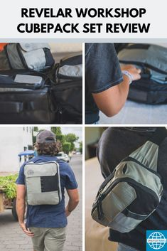 A new type of packing cubes just hit the market. Instead of your standard compressionable packing cubes, Revelar Workshop created a set of three packing cubes that do double duty. Packing Cubes, Packing Tips, Messenger Bag, Workshop, Satchel, Pairs, Marketing, Type, Atelier