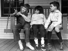 Phillip, Mary & John during a break in filming of To Kill a Mockingbird