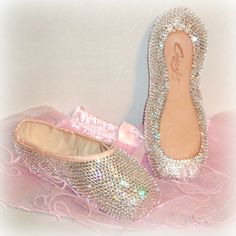 Swarovski crystal embellished pointe shoes!