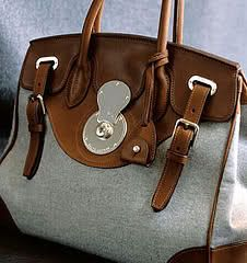 Ralph Lauren Ricky Bag... Texture and style go hand in hand with contrast.