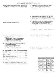 Moleküler Biyoloji-1 Bütünleme Soruları