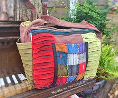 DIVINE EARTHY SPICE PATCHWORK SLOUCH BAG