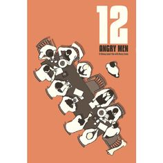Movie poster 12 Angry Men 12x18 inches retro print. £12.00, via Etsy.