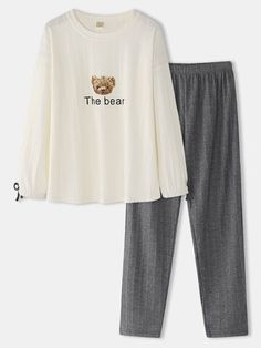Cute Pajama Sets, Cute Pajamas, Cute Lazy Outfits, Casual Outfits, Pyjamas, Top Chic, Clothes For Sale, Clothes For Women, Pajama Outfits