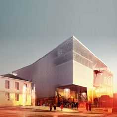 Space Group / Brisac Gonzalez wins joint first prize in competition for Kristiansund Opera and Culture House Architecture Visualization, Architecture Drawings, School Architecture, Chinese Architecture, Kristiansund, Beautiful Architecture, Architecture Details, Cgi, Space Group
