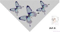 Косынки | biser.info - всё о бисере и бисерном творчестве Seed Bead Patterns, Peyote Patterns, Beading Patterns, Cross Stitch Patterns, Beading Projects, Beading Tutorials, Beaded Cape, Beaded Banners, Beaded Animals
