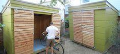 Image result for modern backyard storage shed Backyard Studio, Modern Backyard, Backyard Projects, Craftsman Sheds, Outdoor Bike Storage, Backyard Storage, Bbq Shed, Cool Sheds, Wood Storage Sheds
