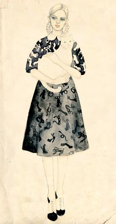 Teri Chung || fashion illustration