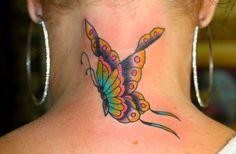 Tattoo Butterfly Back Butterfly back neck tattoo