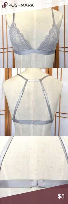 Gray Lace Forever21 bralette Pre owned with no signs of wear Forever 21 Intimates & Sleepwear Bras