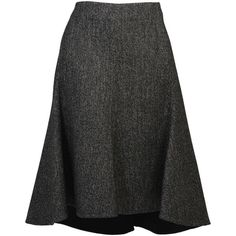 964c1b5b8d6b Celine Skirts ($595) ❤ liked on Polyvore featuring skirts, grey,  asymmetrical skirt