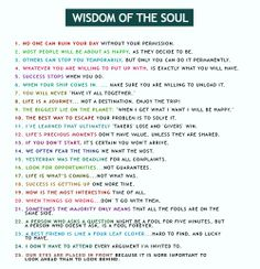 Wisdom of the Soul..