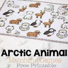 Three arctic animal matching games! Perfect for an arctic or tundra unit this winter! Kids love these spinning games!