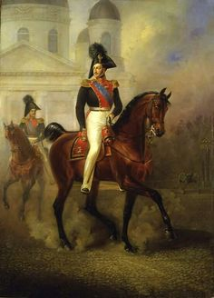 A painting of Tsar Nicholas l of Russia.A♥W